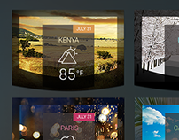 Fancy Weather Widgets PSD