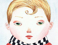 boy or girl with red jacket