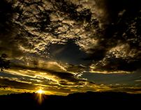 Sunset in Rocca Sinibalda