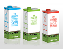 Packaging leche Princesa