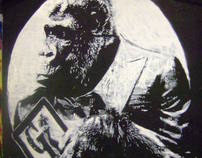 rise of the planet of the apes mural by grafeeney
