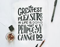 The Greatest Pleasure