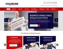 Clearline Business Consultants website redesign