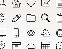 Basic Vector Outlined Icon Set