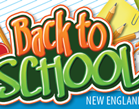 Back To School Direct Mail Flyer and Post Card