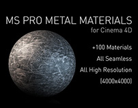 MS Pro Metal Materials for Cinema 4D