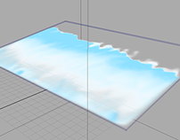 Maya Fluid Shoreline Waves Simulation
