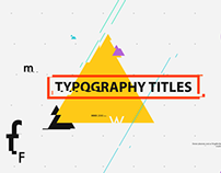 Typography Titles