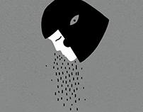 Rain makes you (strangely) look like me.