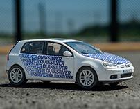 Quiksilver Volkswagen Golf Car Wrap