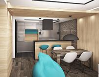 Projekt dwupokojowego mieszkania