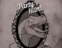 Party hard! Retro poster