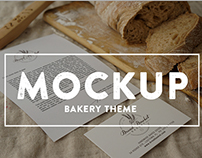 Bakery Food branding mockup