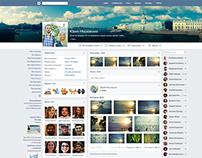 Redesign concept for vk.com