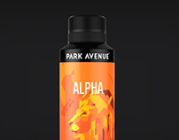 Park Avenue Deodorants Packaging