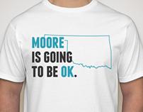 T-shirt design for OK Relief