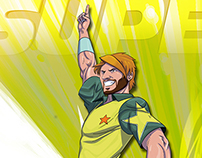 T20 Cricket World Cup 2010 - Player Illustrations