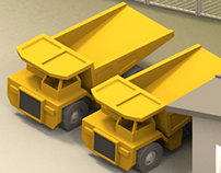 3d - TyreSense - Mine and Quarry illustrations