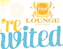Food Network Magazine Lounge Chicago Event Materials