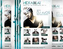 Hexabeat Flyer Template