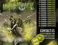 War-Power Hip Hop Mixtape/Album CD Cover PSD Template