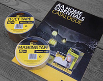 AA HOME ESSENTIALS CATALOGUE AND PACKAGING DESIGN