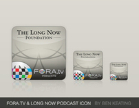 FORA.tv & Long Now Podcast Icons