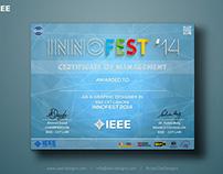 IEEE INNOFEST 2014 - Certificates