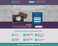 Landing page/Accessories for mobile/Акс-ры для телефона