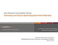 User Research & Usability Testing Presentation