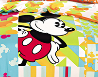 """Electric Patchwork Mickey"" Bedlinen Design FH14"