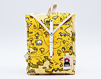 YKRA Treasure Map backpack collection