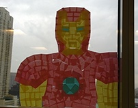 Iron Man Post It Window