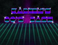 80s Style invitation