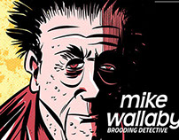 Mike Wallaby: Brooding Detective pulp