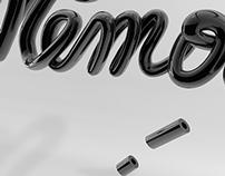 Typographie 3D - Mémoire.