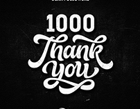 Thank You note for 1000 Followers