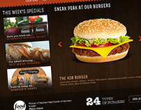 Boston Burger Company - Website Redesign