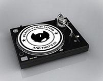 DJ Turntable Mock Up