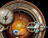 Steampunk Orrery Calendar Clock Yahoo Widget 2.5.4