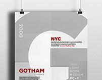 Gotham Font Specimen