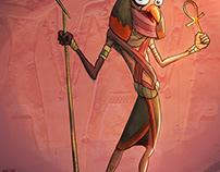 God RA character design cartoon