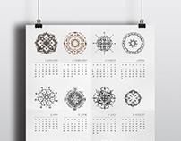 2018 Calendar - Mandalas