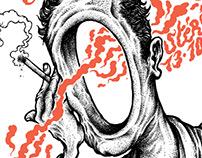 Affiche sérigraphiée Mikaell Peels à Stereolux