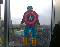 Captain America Post It Window