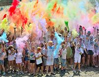 Colour the Coast Fun Run. Hastings. UK