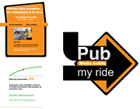 Web design and logo - Pub my ride
