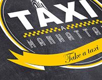 """Branding para Taxi a Manhttan """"Downtown Restaurant"""""""