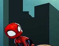 Spidey crouching