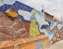 """Mural, """"Pequeños espacios de dignidad"""""""
